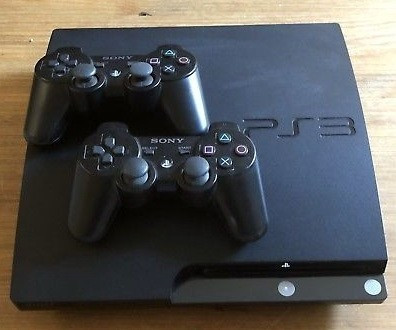 PS3 slim modat Multiman 320Gb + 2 manete GTA 5 ,Fifa 19, Minecraft+ 20jocuri foto