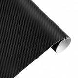 Folie Carbon 3D Negru, 1x1.5m, Tehnologie de Eliminare a Bulelor de Aer, Palmonix