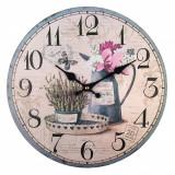 Ceas de perete, model vintage lavanda, 33,8 cm, multicolor