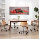 Set tablouri din pânză, imprimeu paprika, multicolor, 200x80 cm, vidaXL