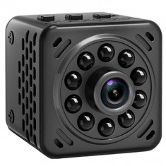 Mini Camera Spion iUni IP34, Wireless, Full HD 1080p, Audio-Video, Night Vision, Baterie detasabila
