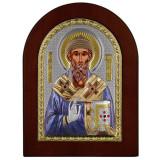 Cumpara ieftin Sfantul Spiridon Icoana Argint cu Auriu si Color 10x14cm COD: 1179