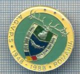 AX 152 INSIGNA VANATOARE SI PESCUIT SPORTIV PERIOADA RSR -A.G.V.P.S -1948-1988