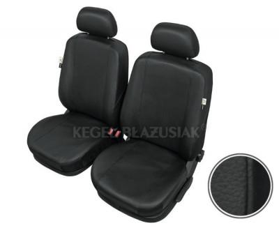 Huse scaune auto imitatie piele Opel Astra H (3) set huse fata, culoare negru foto