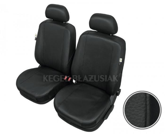 Huse scaune auto imitatie piele Opel Astra H (3) set huse fata, culoare negru