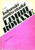 Indrumari pentru studiul limbii romane. Vocabular si gramatica