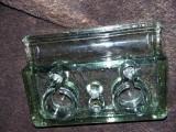 calimara veche dubla sticla verde masiva-fara crapaturi sau ciupituri,T.GRATUIT