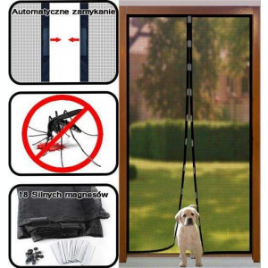 Plasa Perdea Anti Insecte Tantari cu Magneti 200x100cm Magic Mesh