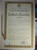 CERTIFICAT DE INVENTATOR : COMPOZITIE TERMOPLASTICA , IGNIFUGA , 1977