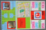 COMPLEX CAPITOL,BUCURESTI-Reclama tiparita,anii '70. Hotelurile centrale,harta.