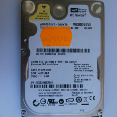 HDD WD Scorpio Blue, WD800BEVE, 80GB, 5400rpm PATA, 8MB