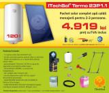 Pachet solar (kit) complet pentru apa calda menajera pentru 2-3 persoane, 120...