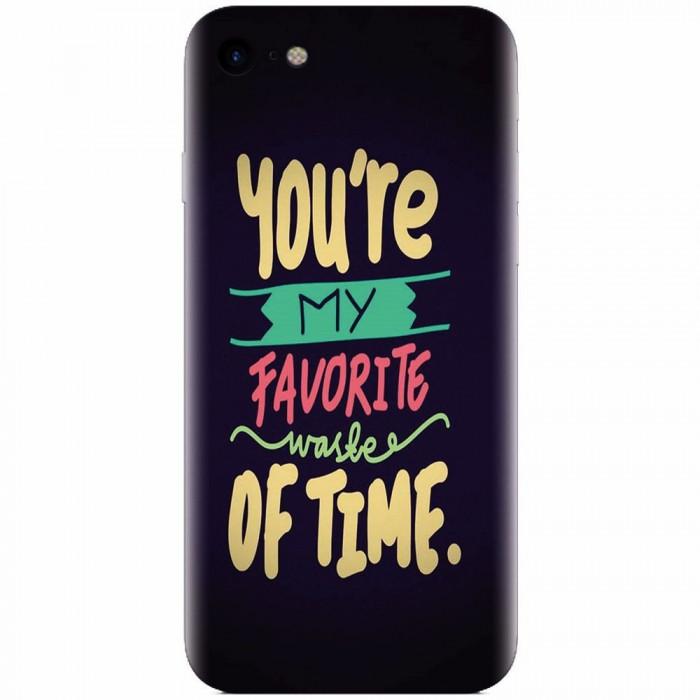 Husa silicon pentru Apple Iphone 8, My Favorite Waste Of Time