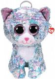 Cumpara ieftin Rucsac De Plus Ty Cu Paiete Pisica Whimsy