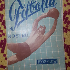 pronosport prezinta fotbalul nostru 1905-1957 /164pagini/ilustratii