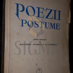 EMINESCU - POEZII POSTUME ( INGRIJITA DE AL. COLORIAN SI AL. IACOBESCU), 1940
