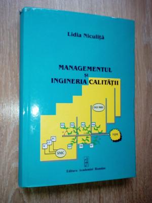Lidia Niculita Managementul si ingineria calitatii foto