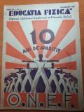 Revista educatie fizica decembrie 1933-art.si foto ski,atletism,vacanta la munte