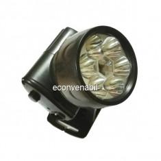 Lanterna Frontala 7 LEDuri 1W cu Acumulator HongYuan