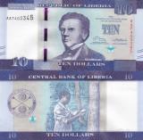 Liberia 10 Dollars 2016 UNC