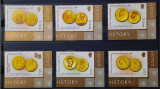 Timbre 2006 Istoria monedei românești - Monede de aur, MNH, Nestampilat