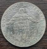 (A834) MONEDA DIN ARGINT AUSTRIA - 100 SCHILLING 1976, JOCURILE OLIMPICE, Europa