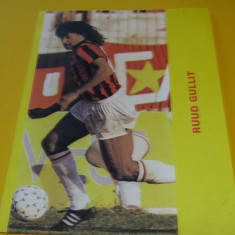 Foto fotbal - jucatorul RUUD GULLIT (Olanda; AC Milan)