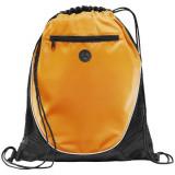 Saculet cu iesire pentru casti si buzunar frontal, poliester 210D, Everestus, 8IA19070, portocaliu, negru, eticheta de bagaj inclusa