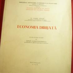 Dr.Karel Englis - Economie Dirijata 1938 ,Cuvant inainte Mitita Constantinescu