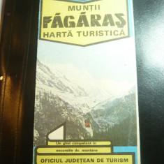 Harta Turistica a Muntilor Fagaras , dim.= 66x47 cm