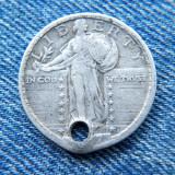 1p - 25 Cents 1917 Statele Unite ale Americii / USA SUA quarter dollar argint, America de Nord