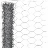 Nature Plasă din sârmă, 0,5 x 10 m, oțel galvanizat, 40 mm, hexagonal