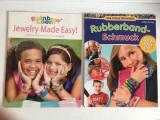 Lot 2 reviste facut bratari din elastice colorate / rubberband - pentru copii