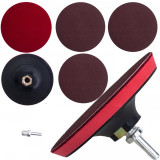 Suport disc flexibil Velcro pentru polizor, cu 3 discuri de slefuire, 125mm