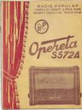 Brosura radio popular Opereta S572A