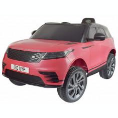 Masinuta electrica Premier Range Rover Velar, 12V, roti cauciuc EVA, scaun piele ecologica, roz