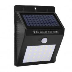 Lampa cu incarcare solara, 25 x LED, senzor PIR