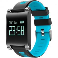 Bratara Fitness iUni DM68 Plus, Display OLED, Pedometru, Monitorizare puls, Notificari, Compatibil cu Android si iOS, Albastru