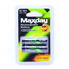 Acumulatori Reincarcabili Maxday R6 AA Ni-Cd 4800mAH 2buc-Set