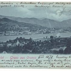 2909 - ORSOVA, Litho, Romania - old postcard - used - 1900, Circulata, Printata