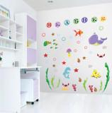 Stickere pentru camere bebelusi Lumea marii Nume personalizat din litere