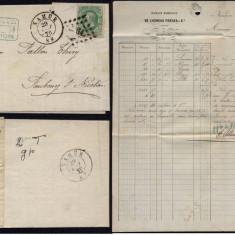Belgium 1870 Postal History Rare Cover + Content Namur DB.234