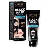 Cumpara ieftin Masca neagra 3D cu carbune activ si acid hialuronic REVUELE Hyaluron, Perfect Smoothness, Peel Off, 80 ml