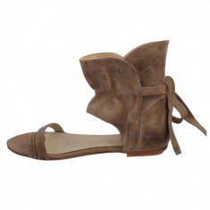 Sandale dama, din piele naturala, marca Endican, B1026-3, bej , marime: 36