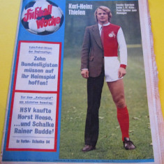 "Revista sport-fotbal ""Fußball-Woche Germania (11.12.1972)"