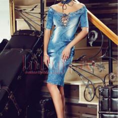 Rochie midi din denim