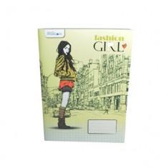 CAIET A5 80 file, dictando B4U hartie interior - offset 60 grame, coperta - carton cretat 140 grame