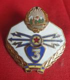 Insigna militara email la cald Specialist TRANSMISIUNI - RSR - Ceausescu 1970