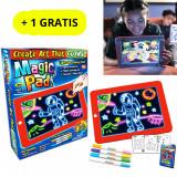 Cumpara ieftin Tableta desen interactiva cu efecte luminoase 3D - Magic PAD + 1 GRATIS
