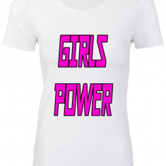 "TRICOU DAMA PERSONALIZAT ""GIRLZ POWER"""